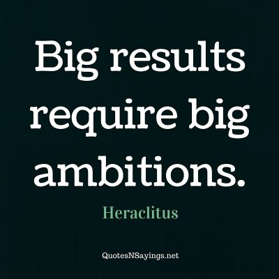 Heraclitus – Big results …