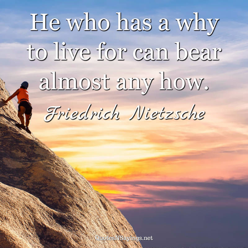 Friedrich Nietzsche quote - He who has a why ...