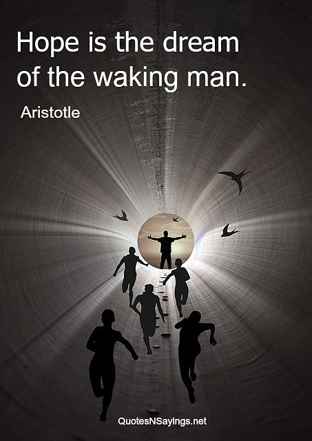 Hope Is The Dream Of The Waking Man
