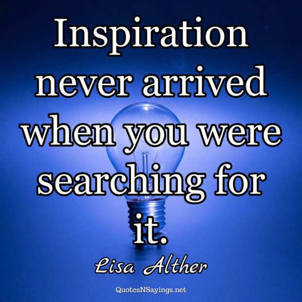 Lisa Alther – Inspiration never arrived …
