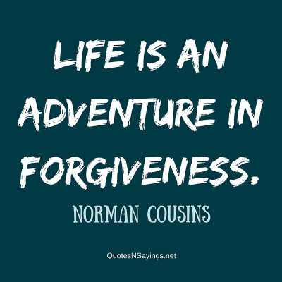 Norman Cousins – Life is an adventure …