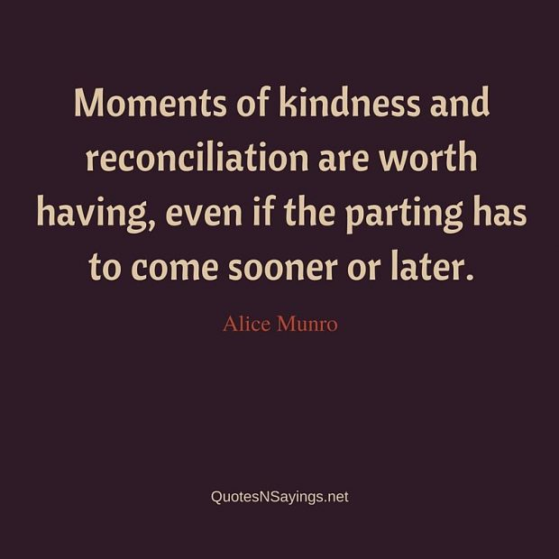 Alice Munro – Moments of kindness …