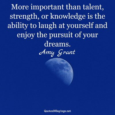 Amy Grant – More important than talent …