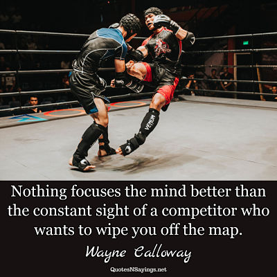 Wayne Calloway quote - Nothing focuses the mind ...