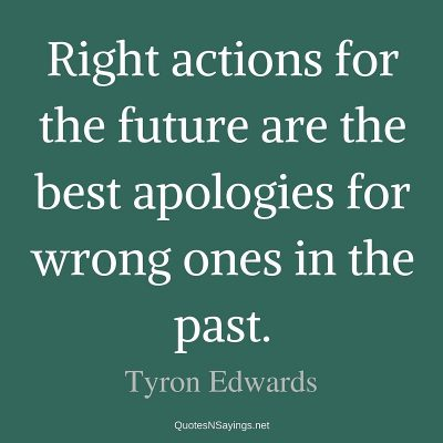 Tyron Edwards – Right actions for the future …