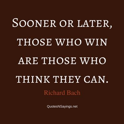 Richard Bach Quote – Sooner or later …
