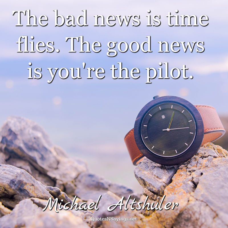 Michael Altshuler quote - The bad news ...