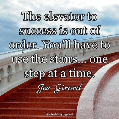 Joe Girard – The elevator to success …