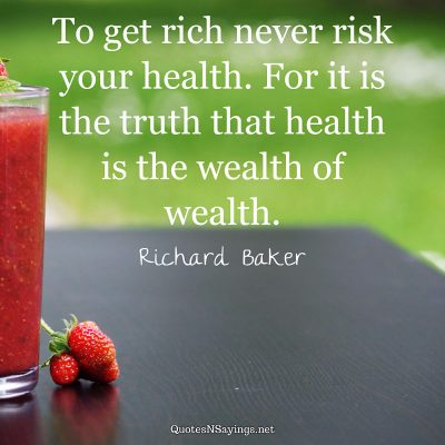 Richard Baker – To get rich never risk …