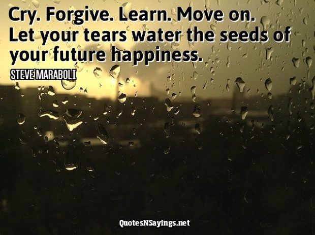 Steve Maraboli Quote – Cry. Forgive. Learn…