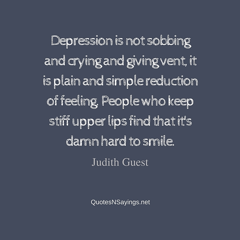 Depression Is Not Sobbing And Crying
