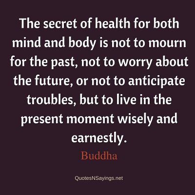 Buddha – The secret of health for both mind …