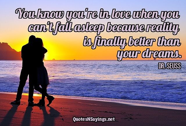You Know You're In Love Quote