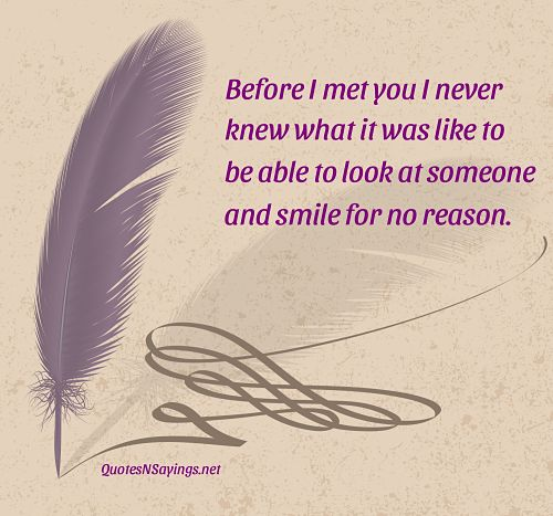 Before I Met You Quote