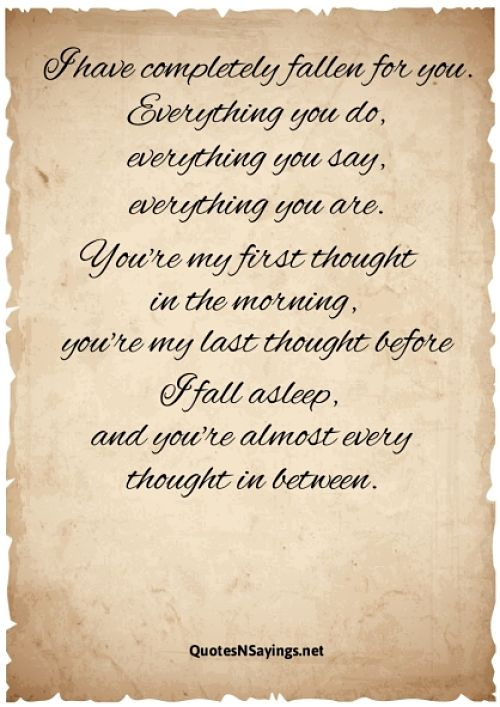 Fallen For You Quote