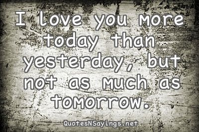 I Love You More Today Quote