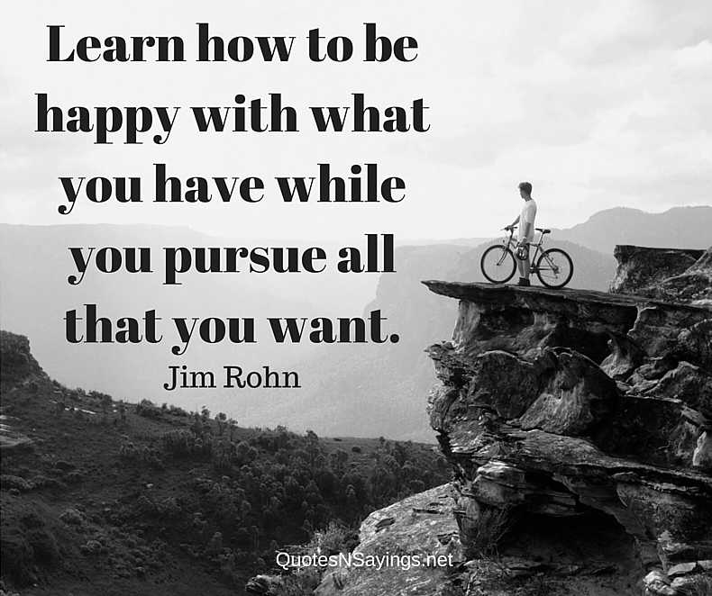 Learn How To Be Happy - Jim Rohn Quote