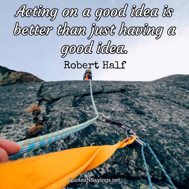 Robert Half – Acting on a good idea …