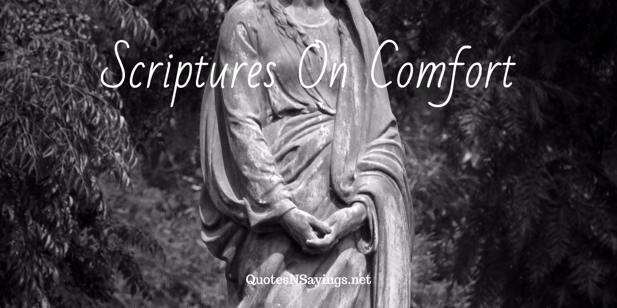 Moving scriptures on comfort