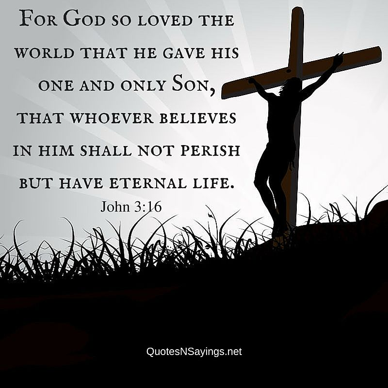 Bible quotes on death : For God so loved the world that he gave his one and only Son, that whoever believes in him shall not perish but have eternal life. - John 3:16