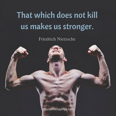 Friedrich Nietzsche Quote – That which does not kill us …