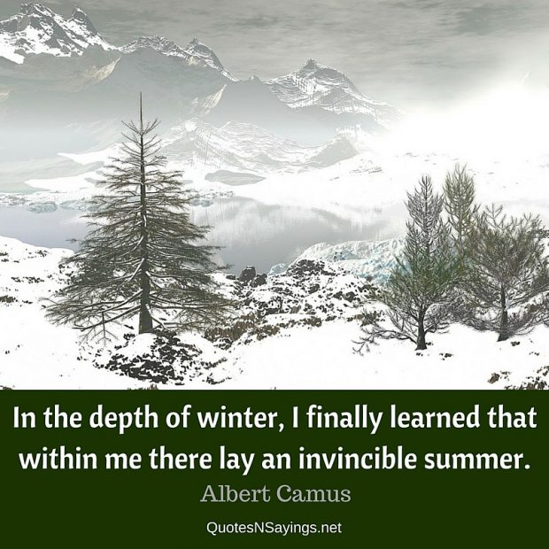 Albert Camus Quote – In the depth of winter …