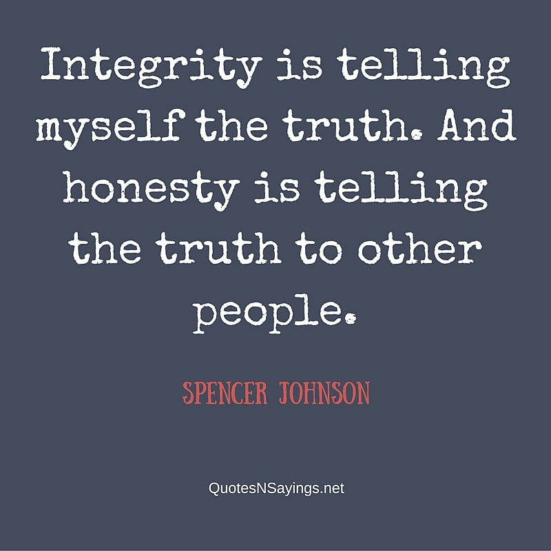 Honesty Quotes And Sayings - Quotes About Integrity