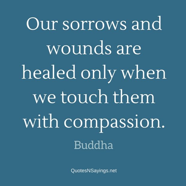 Buddha Quote – Our sorrows and wounds are healed …
