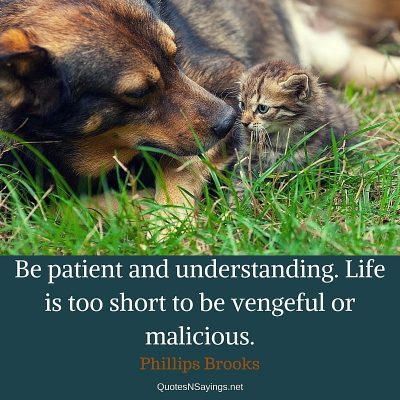 Phillips Brooks Quote – Be patient and understanding …