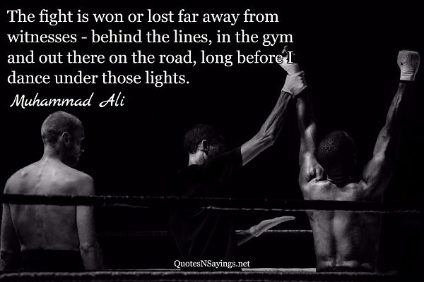 Boxing quotes - quote about winning at boxing by Muhammad Ali