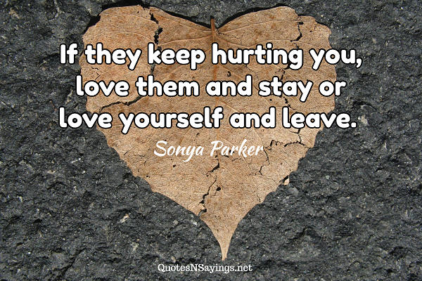 Sonya Parker quote about loving yourself