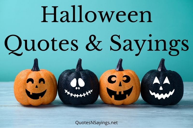 Featured image for a page of fun spooky Halloween quotes and sayings.